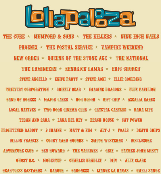 Lollapalooza-2013-Lineup official