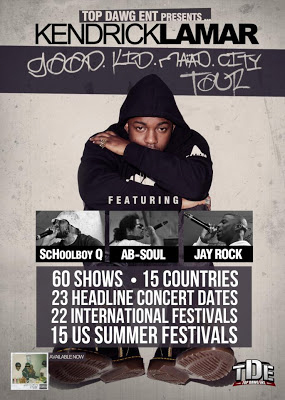 good kid maad city tour