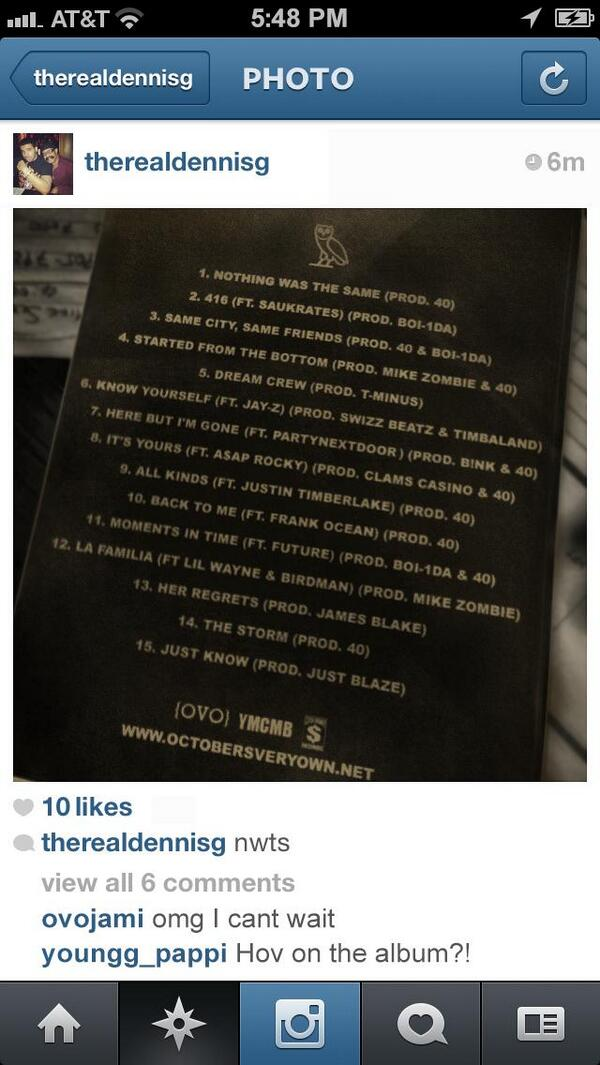 Drake's Dad Leaks 'Nothing' Tracklisting on Twitter – BG2 ...